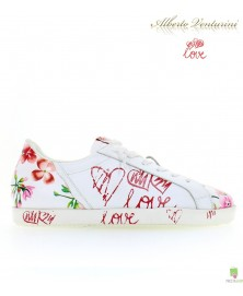 White sneakers ''First Love''
